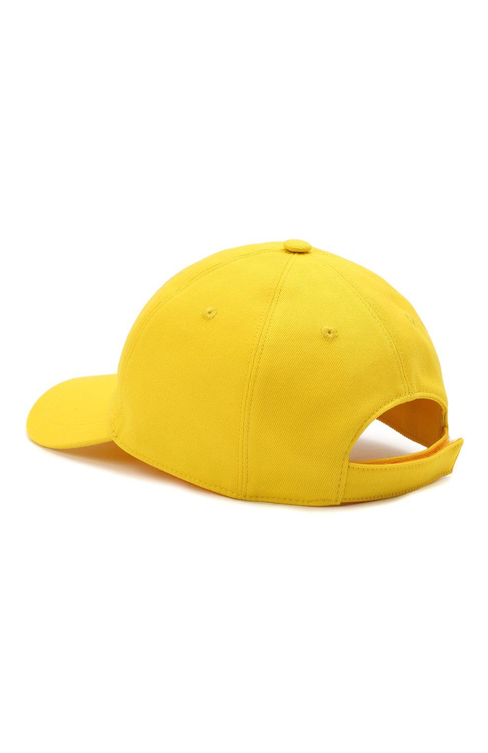 Мужской хлопковая бейсболка VERSACE желтого цвета, арт. ICAP004/1F01262   Фото 2