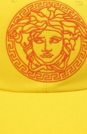 Мужской хлопковая бейсболка VERSACE желтого цвета, арт. ICAP004/1F01262   Фото 3