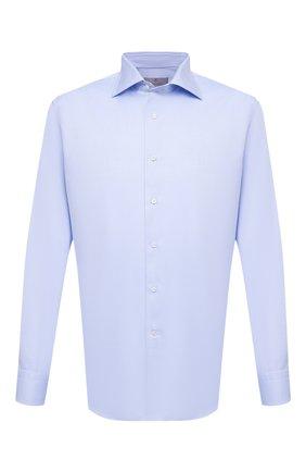 Мужская хлопковая сорочка CANALI голубого цвета, арт. N705/GR01654   Фото 1