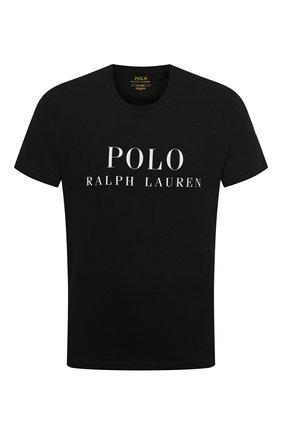 Мужская хлопковая футболка POLO RALPH LAUREN черного цвета, арт. 714830278 | Фото 1