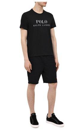 Мужская хлопковая футболка POLO RALPH LAUREN черного цвета, арт. 714830278 | Фото 2