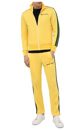 Мужские брюки PALM ANGELS желтого цвета, арт. PMCA007S21FAB0031855 | Фото 2