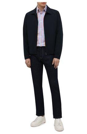 Мужская хлопковая рубашка PAUL&SHARK разноцветного цвета, арт. 21413256/C00 | Фото 2