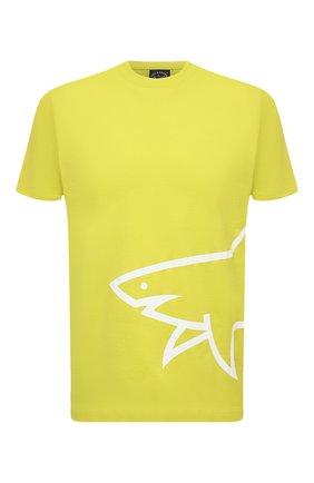 Мужская хлопковая футболка PAUL&SHARK салатового цвета, арт. 21411070/C00   Фото 1