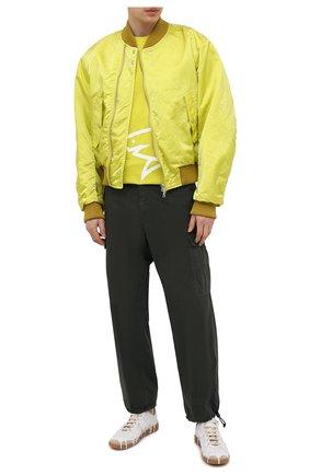 Мужская хлопковая футболка PAUL&SHARK салатового цвета, арт. 21411070/C00   Фото 2