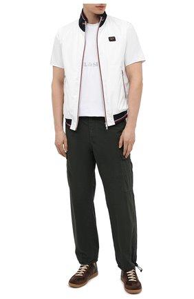Мужская хлопковая футболка PAUL&SHARK белого цвета, арт. 21411019/HLK | Фото 2 (Материал внешний: Хлопок; Принт: С принтом; Рукава: Короткие; Стили: Кэжуэл; Длина (для топов): Стандартные)