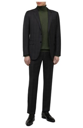 Мужские кожаные дерби W.GIBBS черного цвета, арт. 5689005/1655 | Фото 2 (Материал внутренний: Натуральная кожа; Мужское Кросс-КТ: Броги-обувь; Стили: Классический)