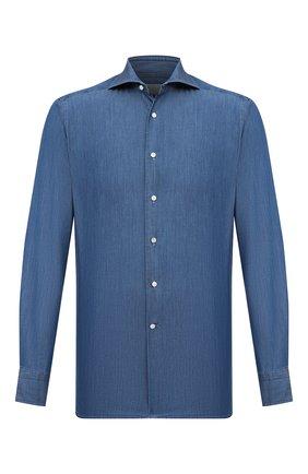 Мужская хлопковая рубашка BAGUTTA голубого цвета, арт. 386_EBLJ/06196 | Фото 1