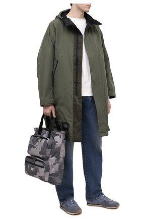 Мужская текстильная сумка-шопер DOLCE & GABBANA серого цвета, арт. BM1959/A0282 | Фото 2