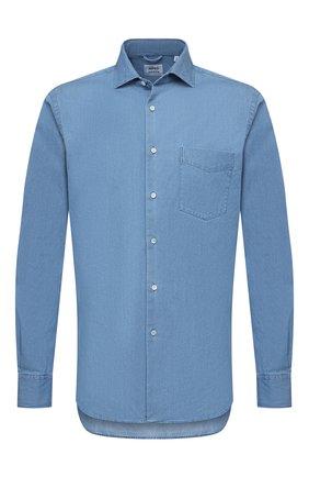 Мужская хлопковая рубашка ASPESI синего цвета, арт. S1 A CE52 6191 | Фото 1