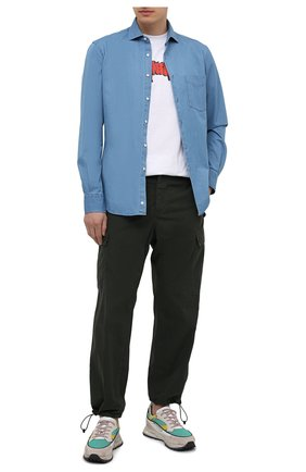 Мужская хлопковая рубашка ASPESI синего цвета, арт. S1 A CE52 6191 | Фото 2