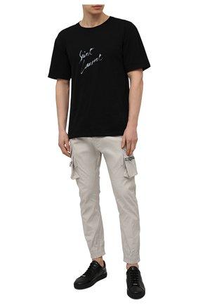Мужские кожаные кеды MORESCHI черного цвета, арт. 43850/CQ/PECCARY/R0DI/F0D.ESTATE | Фото 2
