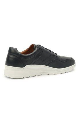 Мужские кожаные кроссовки MORESCHI темно-синего цвета, арт. 43732/BL/PR0CIDA/F.ESTATE | Фото 4 (Материал внутренний: Натуральная кожа; Стили: Классический; Подошва: Массивная)