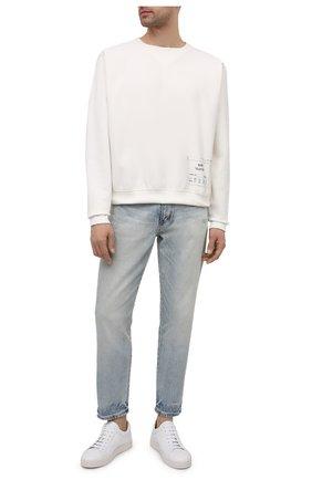 Мужские кожаные кеды MORESCHI белого цвета, арт. 42925/CQ/GUANT0 | Фото 2