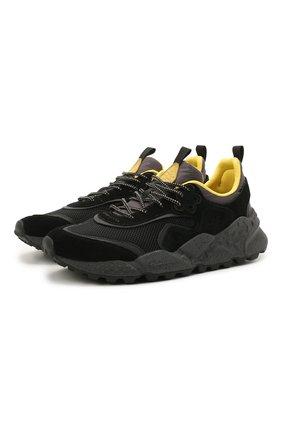 Мужские комбинированные кроссовки FLOWER MOUNTAIN черного цвета, арт. 0012015731.02 | Фото 1