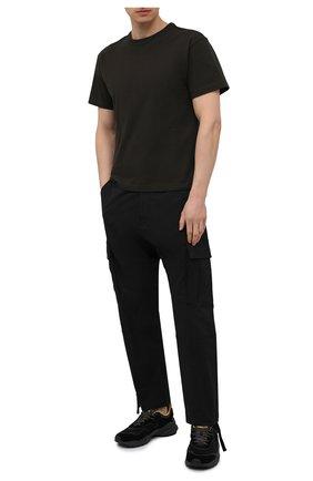 Мужские комбинированные кроссовки FLOWER MOUNTAIN черного цвета, арт. 0012015731.02 | Фото 2