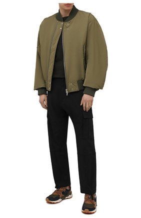 Мужские комбинированные кроссовки FLOWER MOUNTAIN темно-коричневого цвета, арт. 0012015674.01   Фото 2