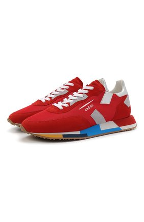 Мужские комбинированные кроссовки GHOUD красного цвета, арт. E11ERMLMMM13 | Фото 1