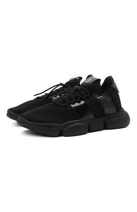 Мужские текстильные кроссовки bubble MONCLER черного цвета, арт. G1-09A-4M702-00-02S74 | Фото 1