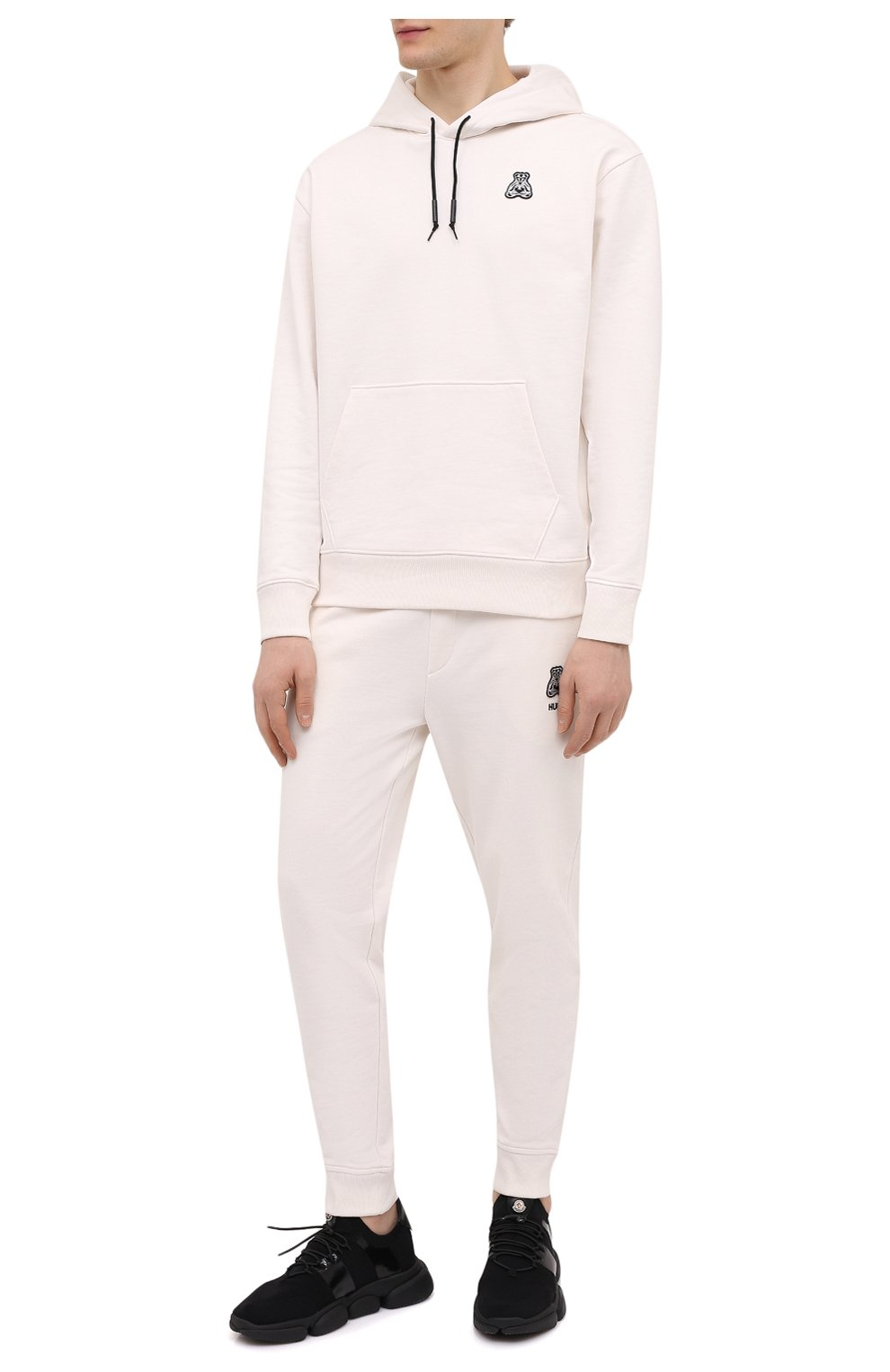 Мужские текстильные кроссовки bubble MONCLER черного цвета, арт. G1-09A-4M702-00-02S74 | Фото 2 (Материал внешний: Текстиль; Материал внутренний: Натуральная кожа; Стили: Гранж; Подошва: Массивная)