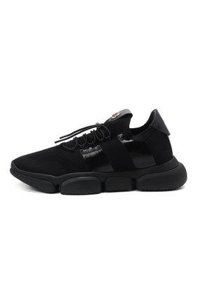 Мужские текстильные кроссовки bubble MONCLER черного цвета, арт. G1-09A-4M702-00-02S74 | Фото 3 (Материал внешний: Текстиль; Материал внутренний: Натуральная кожа; Стили: Гранж; Подошва: Массивная)