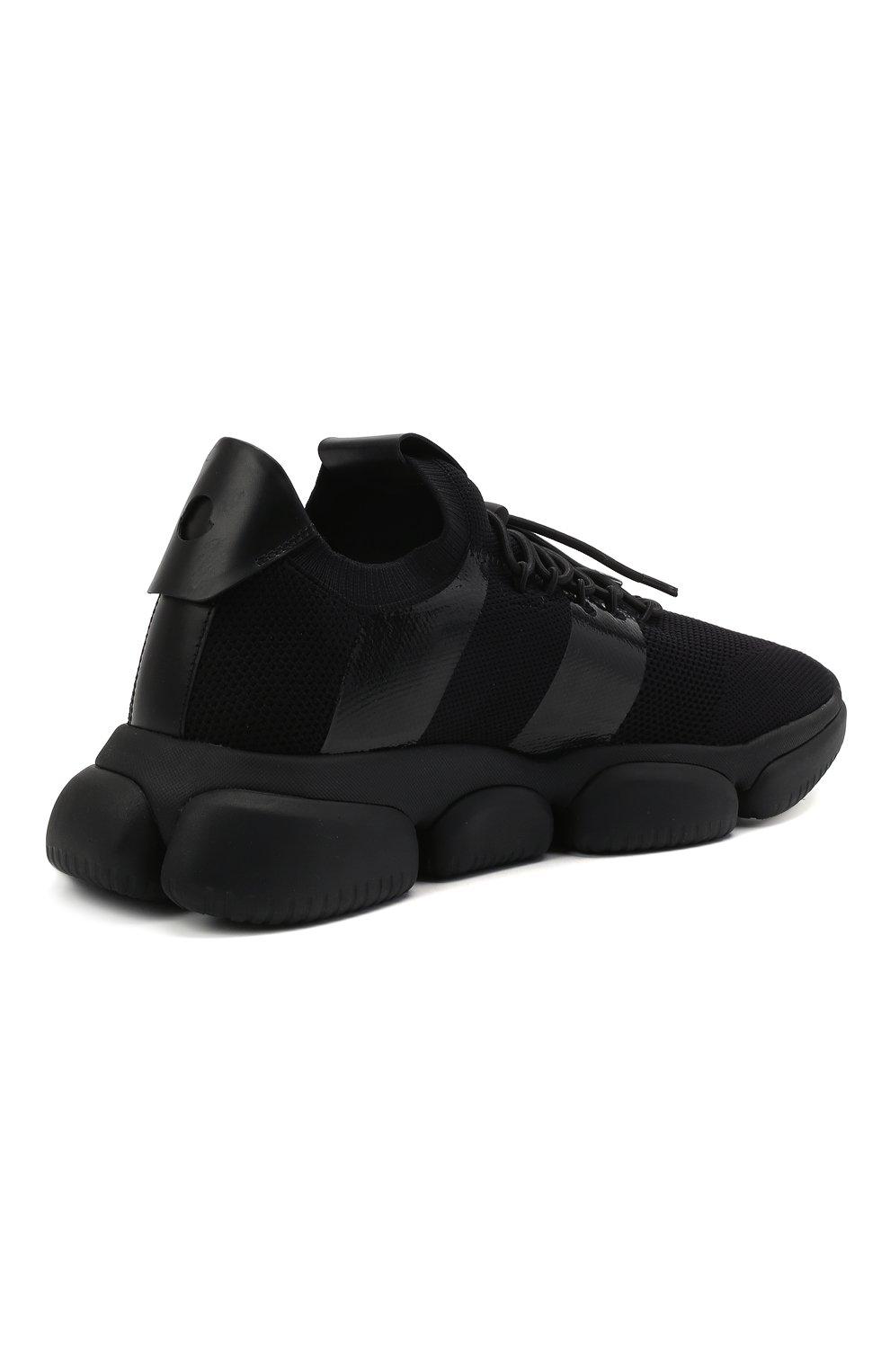 Мужские текстильные кроссовки bubble MONCLER черного цвета, арт. G1-09A-4M702-00-02S74 | Фото 4 (Материал внешний: Текстиль; Материал внутренний: Натуральная кожа; Стили: Гранж; Подошва: Массивная)