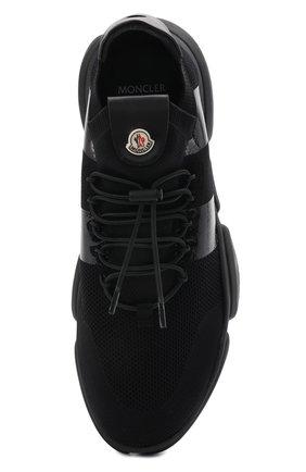 Мужские текстильные кроссовки bubble MONCLER черного цвета, арт. G1-09A-4M702-00-02S74 | Фото 5 (Материал внешний: Текстиль; Материал внутренний: Натуральная кожа; Стили: Гранж; Подошва: Массивная)