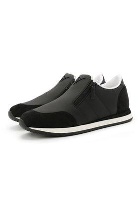 Мужские кожаные кроссовки jimi zip GIUSEPPE ZANOTTI DESIGN черного цвета, арт. EU10015/004 | Фото 1