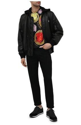 Мужские кожаные кроссовки jimi zip GIUSEPPE ZANOTTI DESIGN черного цвета, арт. EU10015/004 | Фото 2