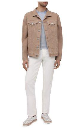 Мужские кожаные слипоны ZILLI белого цвета, арт. MDV-T087/002 | Фото 2