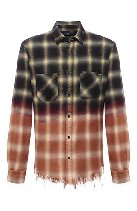 Мужская рубашка из хлопка и вискозы AMIRI разноцветного цвета, арт. MSL008-721   Фото 1