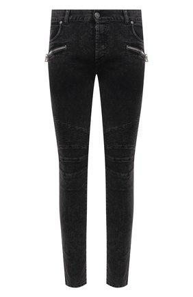 Мужские джинсы BALMAIN черного цвета, арт. VH0MG005/107D | Фото 1