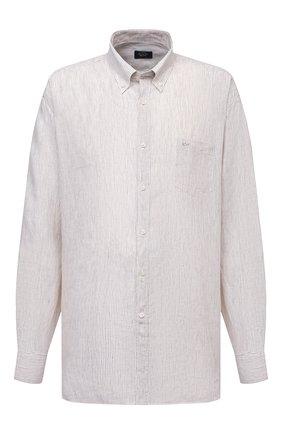 Мужская льняная рубашка PAUL&SHARK бежевого цвета, арт. 21413066/F7E/48-50 | Фото 1