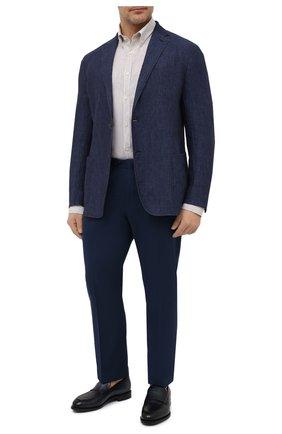Мужская льняная рубашка PAUL&SHARK бежевого цвета, арт. 21413066/F7E/48-50 | Фото 2