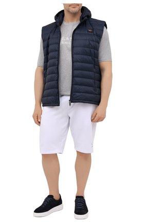 Мужская хлопковая футболка PAUL&SHARK серого цвета, арт. 21411022/C00/3XL-6XL | Фото 2