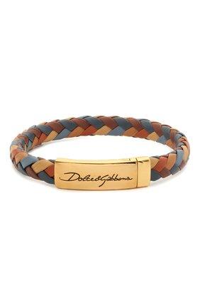 Мужской кожаный браслет DOLCE & GABBANA разноцветного цвета, арт. WBM5R4/W1111 | Фото 1