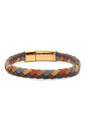 Мужской кожаный браслет DOLCE & GABBANA разноцветного цвета, арт. WBM5R4/W1111 | Фото 2