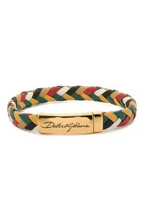Мужской кожаный браслет DOLCE & GABBANA разноцветного цвета, арт. WBM5R3/W1111 | Фото 1