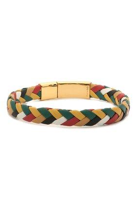 Мужской кожаный браслет DOLCE & GABBANA разноцветного цвета, арт. WBM5R3/W1111 | Фото 2