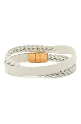 Мужской кожаный браслет DOLCE & GABBANA белого цвета, арт. WBM5P2/W1111 | Фото 1