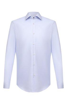 Мужская хлопковая сорочка BOSS голубого цвета, арт. 50452175 | Фото 1