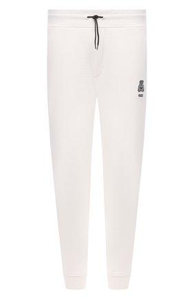 Мужские хлопковые джоггеры HUGO белого цвета, арт. 50452628 | Фото 1 (Длина (брюки, джинсы): Стандартные; Материал внешний: Хлопок; Кросс-КТ: Спорт; Стили: Спорт-шик; Силуэт М (брюки): Джоггеры; Мужское Кросс-КТ: Брюки-трикотаж)