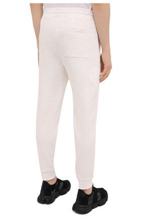 Мужские хлопковые джоггеры HUGO белого цвета, арт. 50452628 | Фото 4 (Мужское Кросс-КТ: Брюки-трикотаж; Длина (брюки, джинсы): Стандартные; Кросс-КТ: Спорт; Материал внешний: Хлопок; Стили: Спорт-шик; Силуэт М (брюки): Джоггеры)