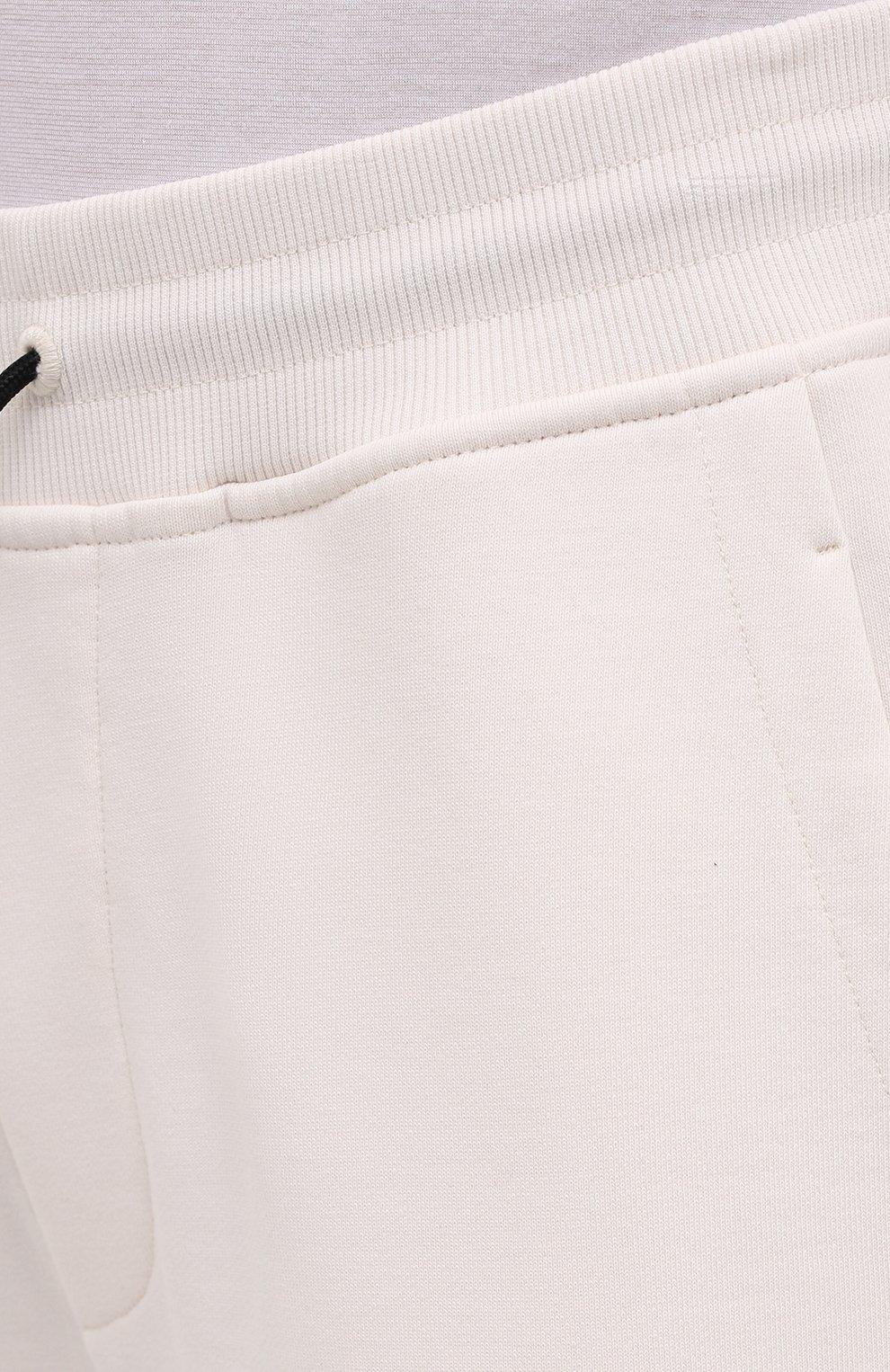 Мужские хлопковые джоггеры HUGO белого цвета, арт. 50452628 | Фото 5 (Мужское Кросс-КТ: Брюки-трикотаж; Длина (брюки, джинсы): Стандартные; Кросс-КТ: Спорт; Материал внешний: Хлопок; Стили: Спорт-шик; Силуэт М (брюки): Джоггеры)
