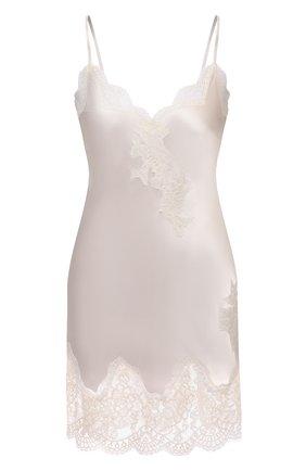 Женская шелковая сорочка AUBADE светло-бежевого цвета, арт. MS40 | Фото 1