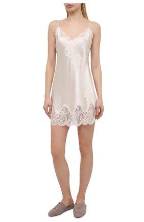 Женская шелковая сорочка AUBADE светло-бежевого цвета, арт. MS40 | Фото 2