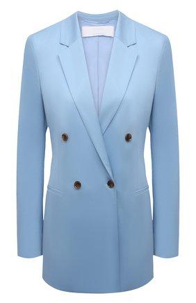 Женский хлопковый жакет BOSS голубого цвета, арт. 50452012 | Фото 1
