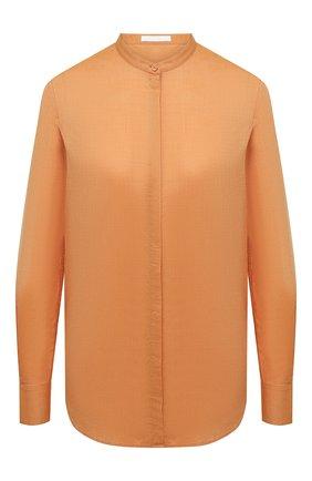 Женская хлопковая рубашка BOSS оранжевого цвета, арт. 50436922 | Фото 1