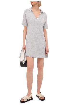 Женское платье из вискозы FREEAGE серого цвета, арт. W22.DR003.7080.901 | Фото 2
