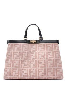 Женский сумка peekaboo x-tote FENDI светло-розового цвета, арт. 8BH374 A9P6 | Фото 1